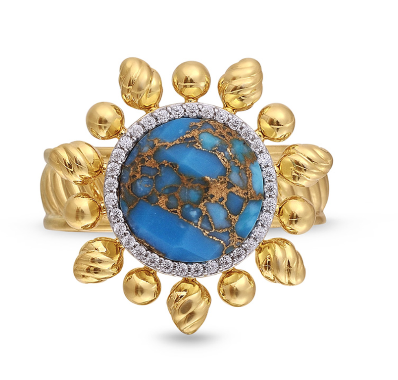 Turquoise Rise & Shine Detachable Ring