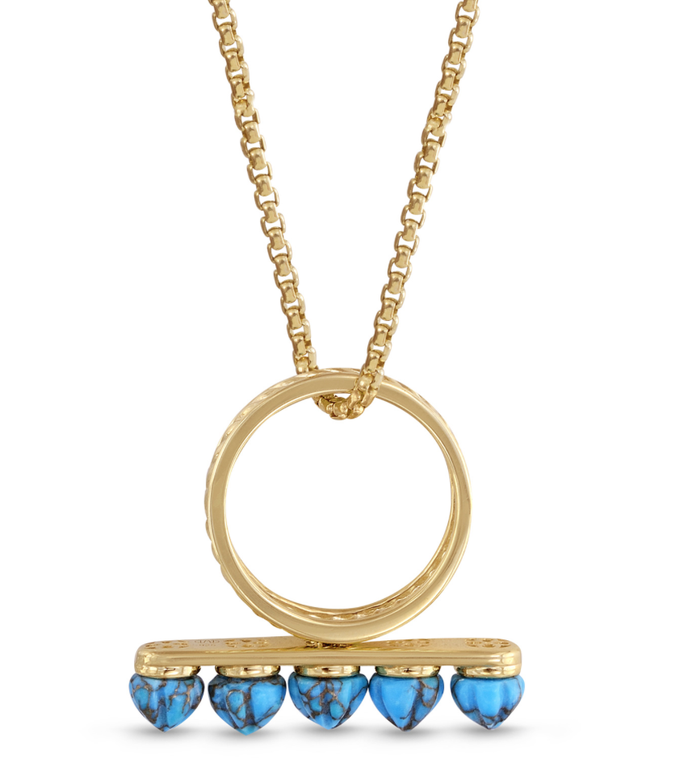 Turquoise Summer Nights Multi Stone Convertible Ring & Pendant