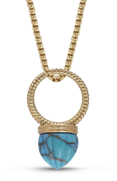 Turquoise Summer Nights Single Stone Convertible Ring & Pendant