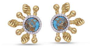 Turquoise Sun-Day Stud Earrings