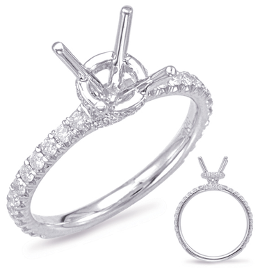 14k White Gold Diamond Mounting