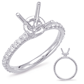 14K White Gold White Gold Diamond Mounting