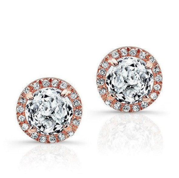 White Topaz Diamond Stud Earrings