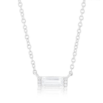 White Topaz Slice Necklace