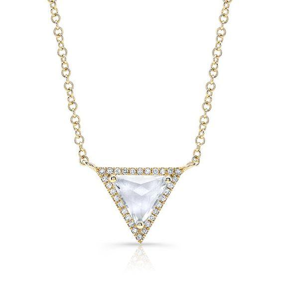 White Topaz Triangle Pendant