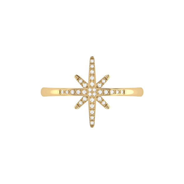 North Star Ring in 14 KT Yellow Gold Vermeil on Sterling Silver