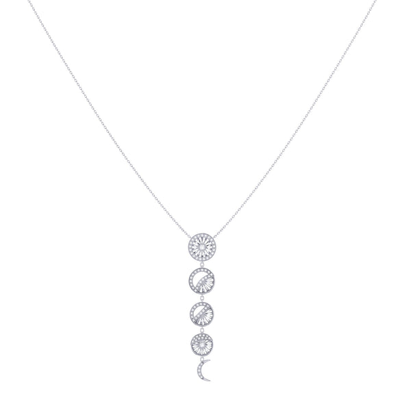 Moon Phases Necklace in Sterling Silver