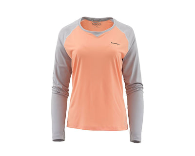 Simms W'S Solarflex Long Sleeved Crewneck Sorbet/Sterling