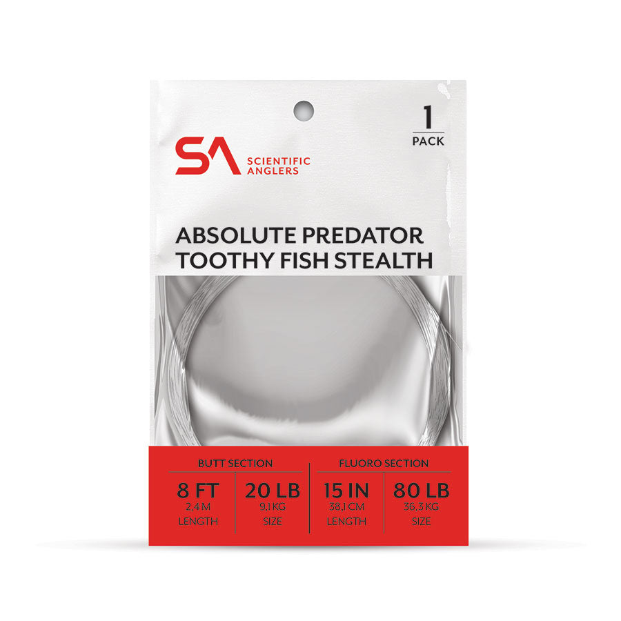 Scientific Anglers Absolute Predator Toothy Fish Stealth Leader