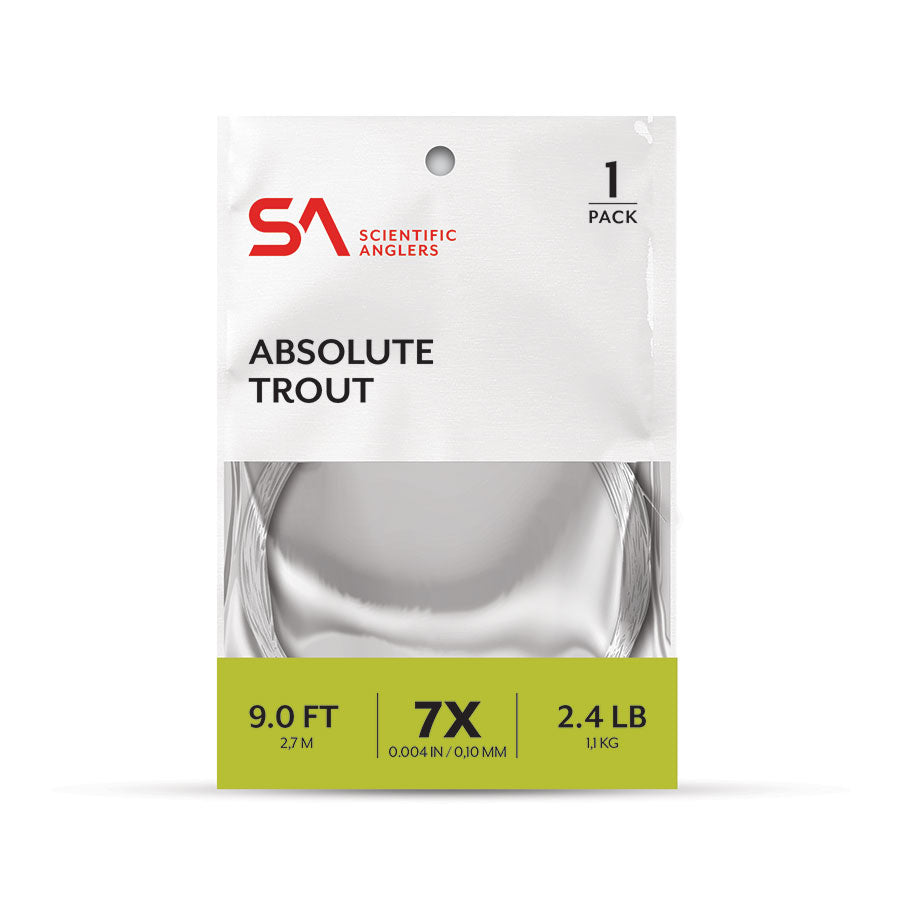 Scientific Anglers Absolute Trout 1 Pack Leaders