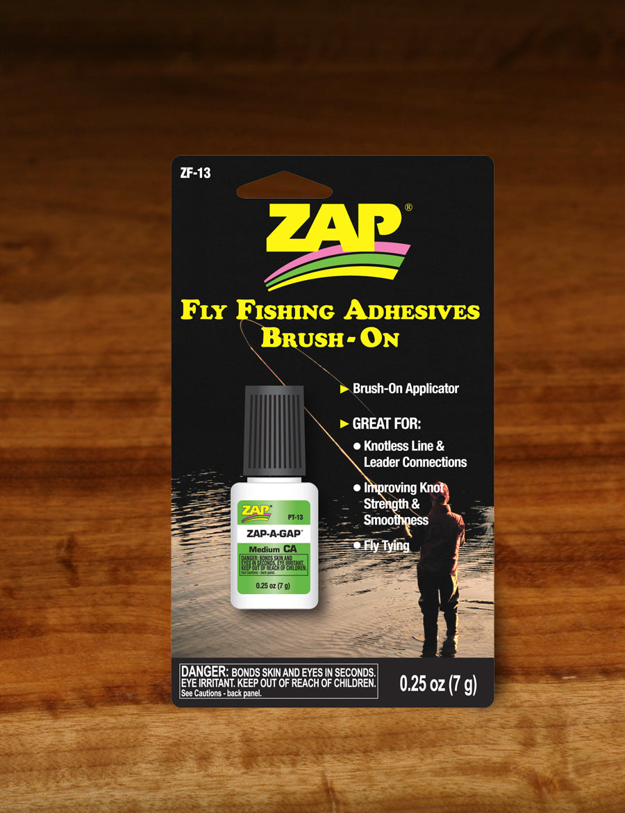 Hareline Zap-A-Gap Fly Fishing Brush-On