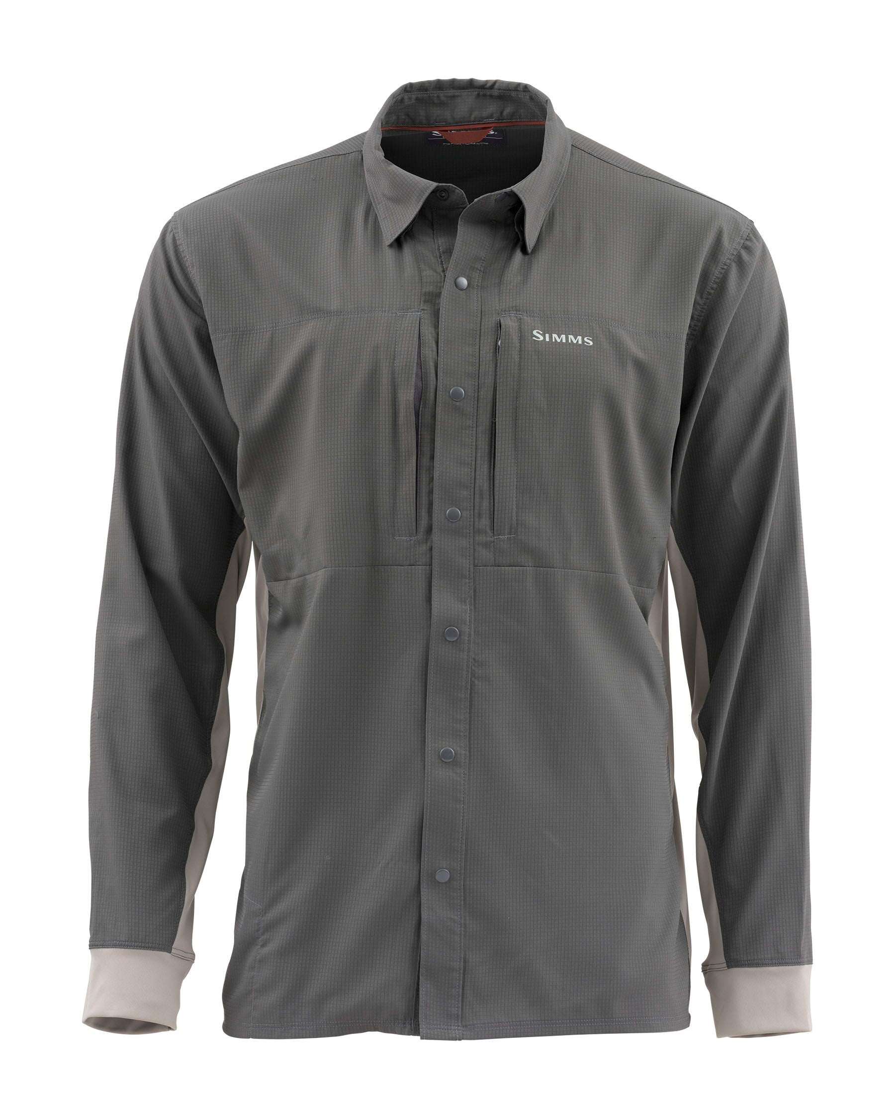 Simms Intruder Bicomp Long-Sleeved Shirt Slate