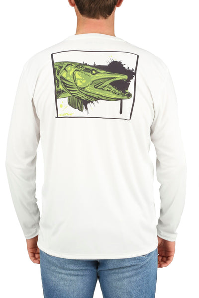 Simms Solar Tech Long-Sleeved Tee Musky Face White