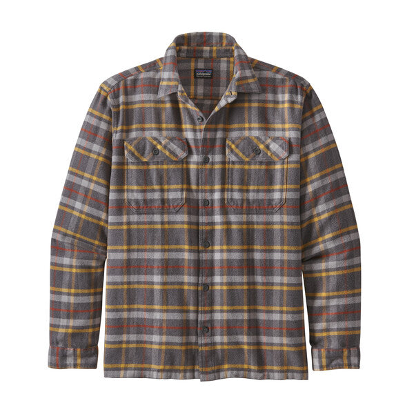 Patagonia Long Sleeved Fjord Flannel Shirt Independence: Forge Grey