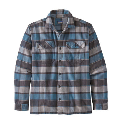 Patagonia Long Sleeved Fjord Flannel Shirt Plots: Pigeon Blue