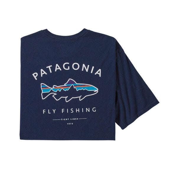 Patagonia Framed Fitz Roy Trout Organic T Shirt Classic Navy