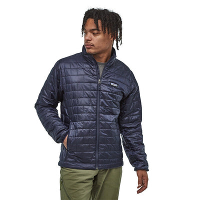 Patagonia Nano Puff Jacket Classic Navy On Body