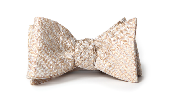 Gold Zag Bow Tie from Tasty Ties