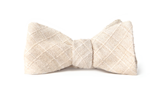 Cream Cross-Hatch Bow Tie from Tasty Ties