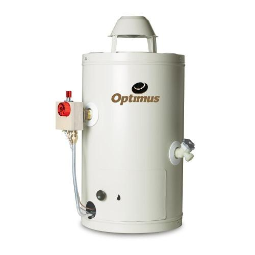 Calentador Optimus de paso gas LP blanco 9 L/min