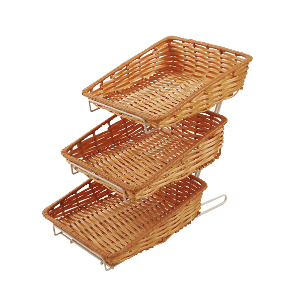 WKRBST - Wicker Display Baskets (Pack of 3)