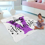 Customized Initial & Name Cozy Plush Fleece Blanket