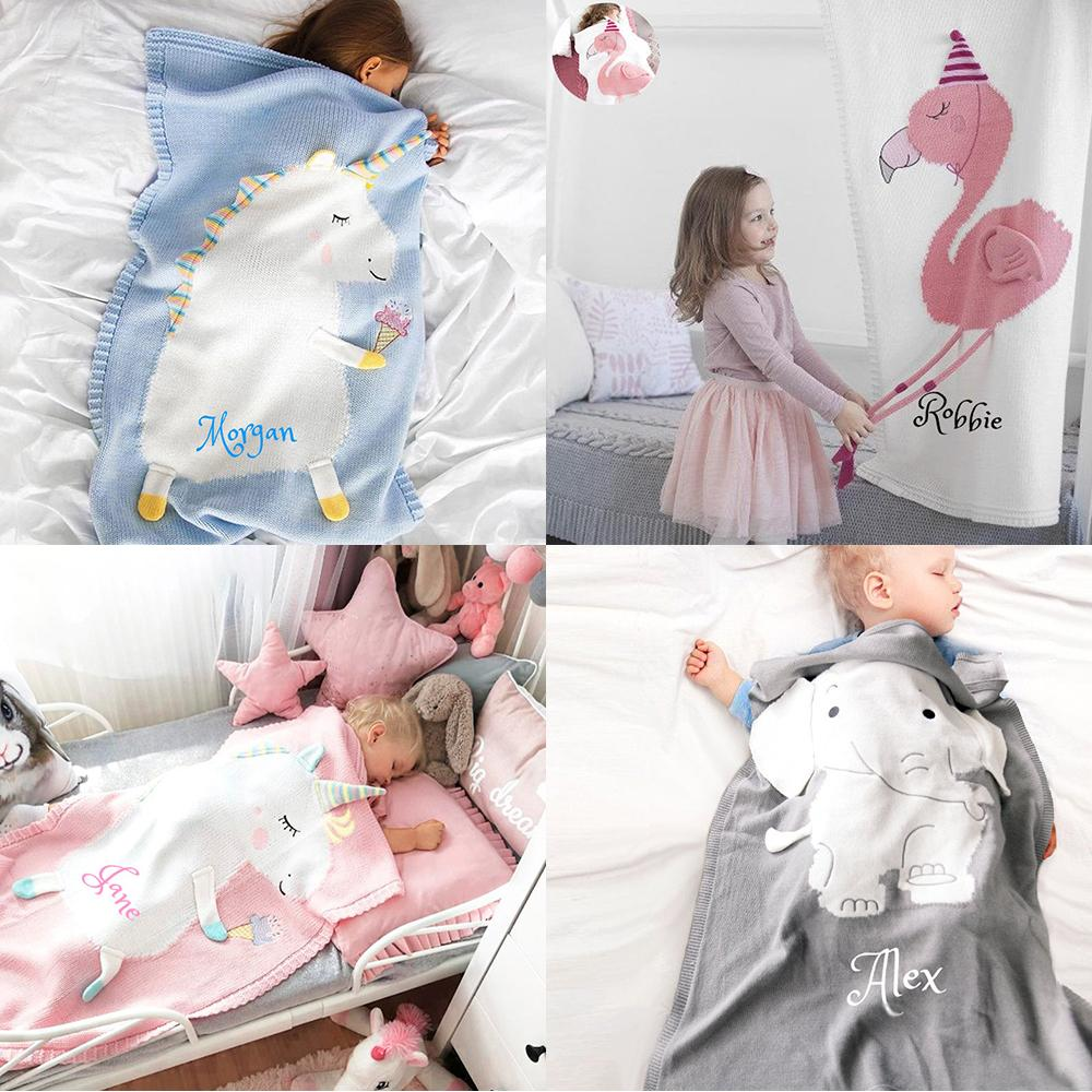 Personalized 3D Animal Children's Blankets with Name