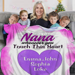 Customized Cozy Plush Fleece Blanket with Nickname & Kids Names