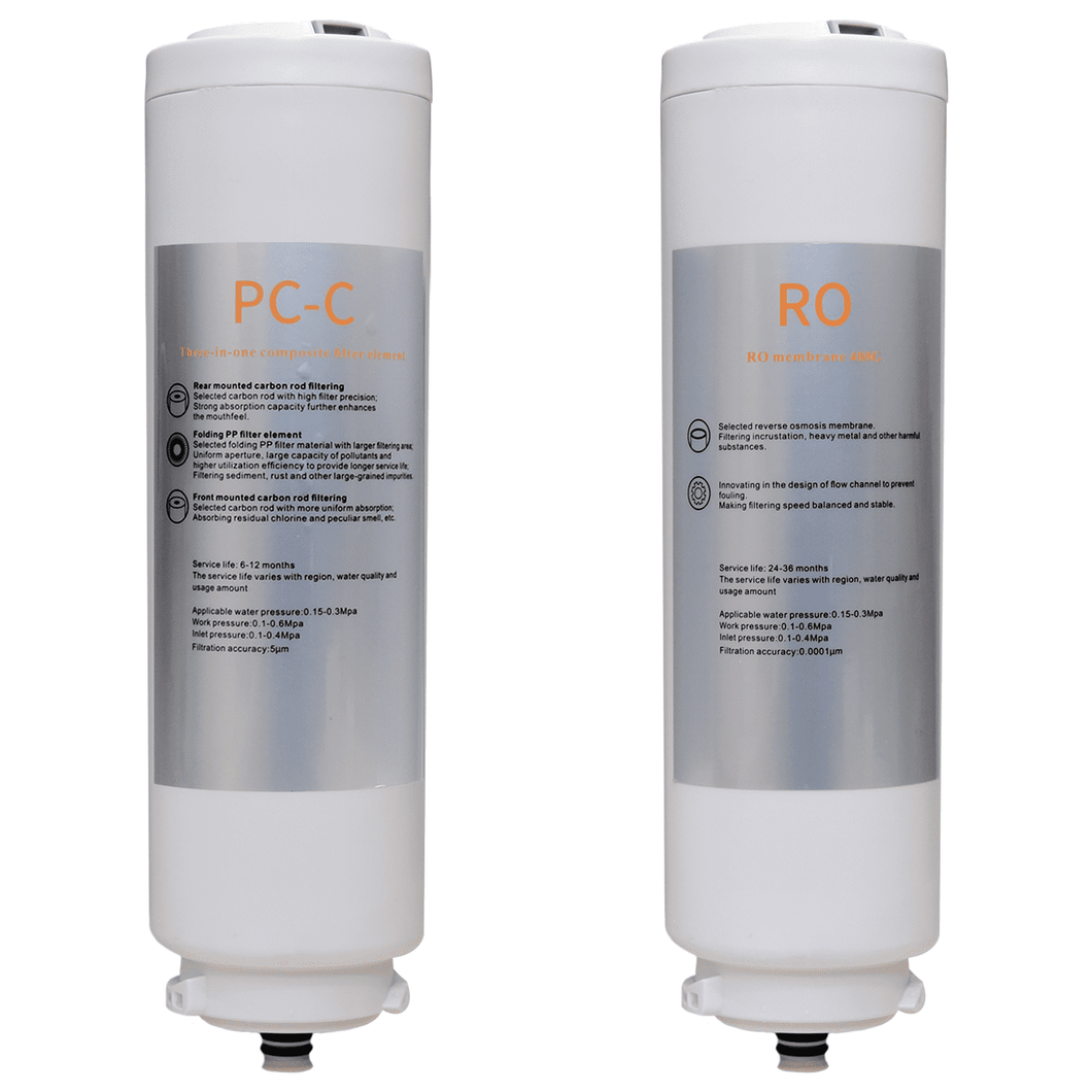 Genuine Water Filters for Smart 400GPD RO System - 2 Filters( RO + CF)