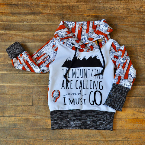 Forest and Mountain Grow With Me Hoody (1-3yr)