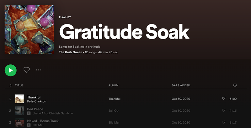 Kush Queen CBD Bath Gratitude Playlist. Listen on Spotify