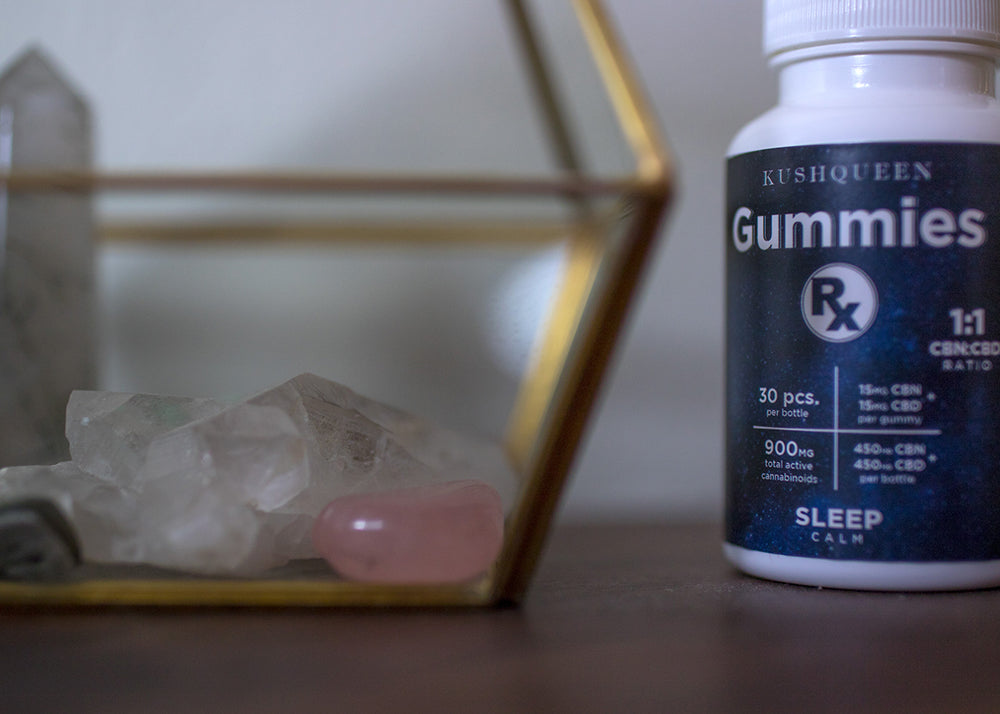 Gummies RX Sleep 900mg CBN and CBD Chew is work wonders on getting to sleep during stressful times. Keep it by your bedside table, just liken this photo.