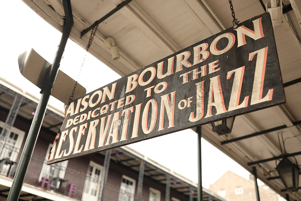 Sign in New Orleans dedicated to the preservation of jazz.