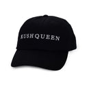 KQ Shop Merchandise Kush Queen Hat - Black w/ White Embroidery