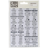 "Planner Essentials Clear Stickers 4""X6"" 4/Pkg"