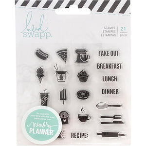 Swapp Memory Planner Clear Stamps - Food
