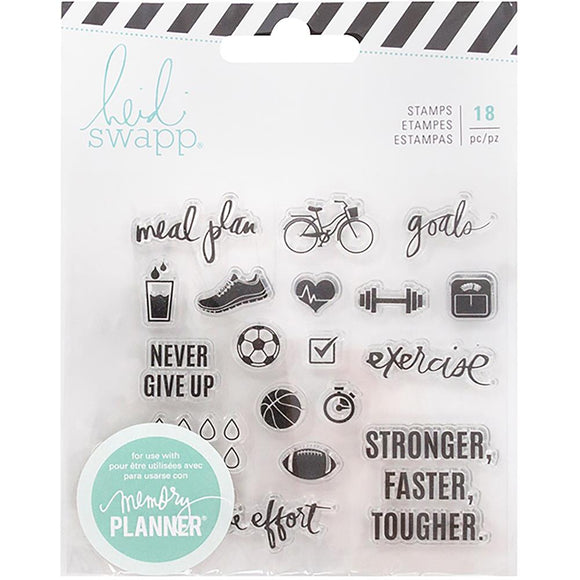 Heidi Swapp Memory Planner Clear Stamps - Exercise