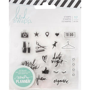 Heidi Swapp Memory Planner Clear Stamps - Everyday