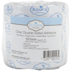 Elizabeth Craft Clear Double-Sided Adhesive Tape 4""