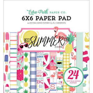 BS182023 Best Summer Ever 6x6 Paper Pads