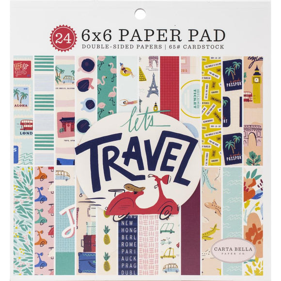 LT100023 Let's Travel 6x6 Paper Pad