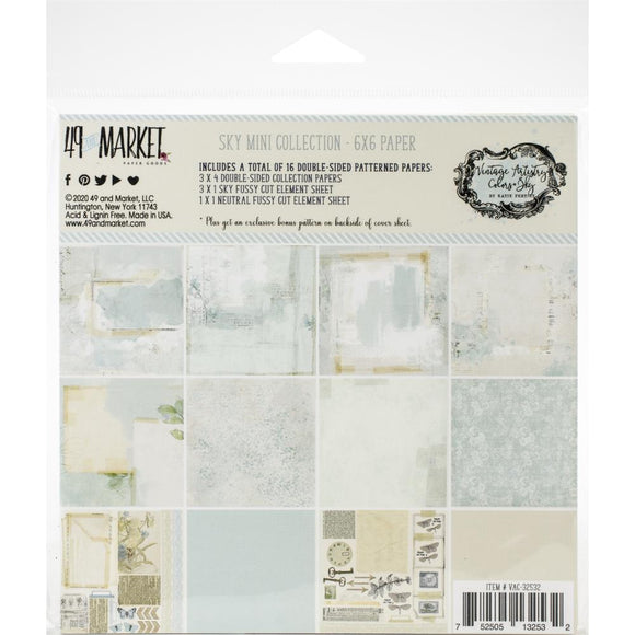 49 And Market - Vintage Artistry Sky 6x6 Paper Pad