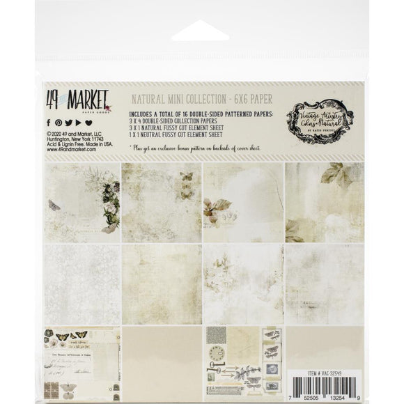 49 And Market - Vintage Artistry Natural 6x6 Paper Pad