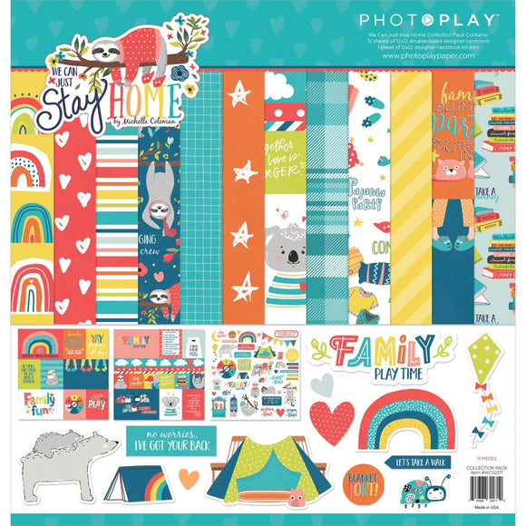 PhotoPlay We Can Just Stay Home 12x12 paper pack