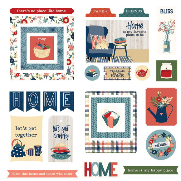 PhotoPlay Heart & Home Ephemera Cardstock Die-Cuts
