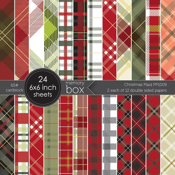 PP1009 Christmas Plaid 6x6 Paper Pad