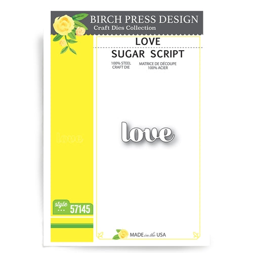 57145 Love Sugar Script craft die