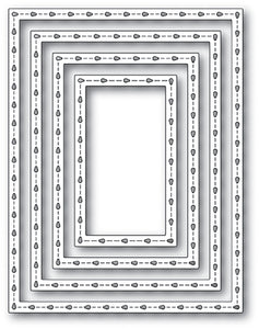 2072 Stitchwork Rectangle Frame craft die