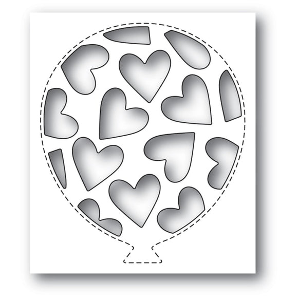 2156 Tumbled Heart Balloon Collage craft die