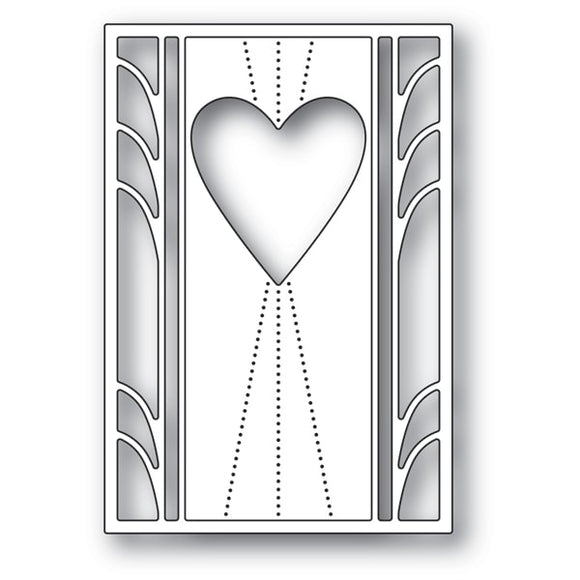 2163 Deco Marquis Heart craft die